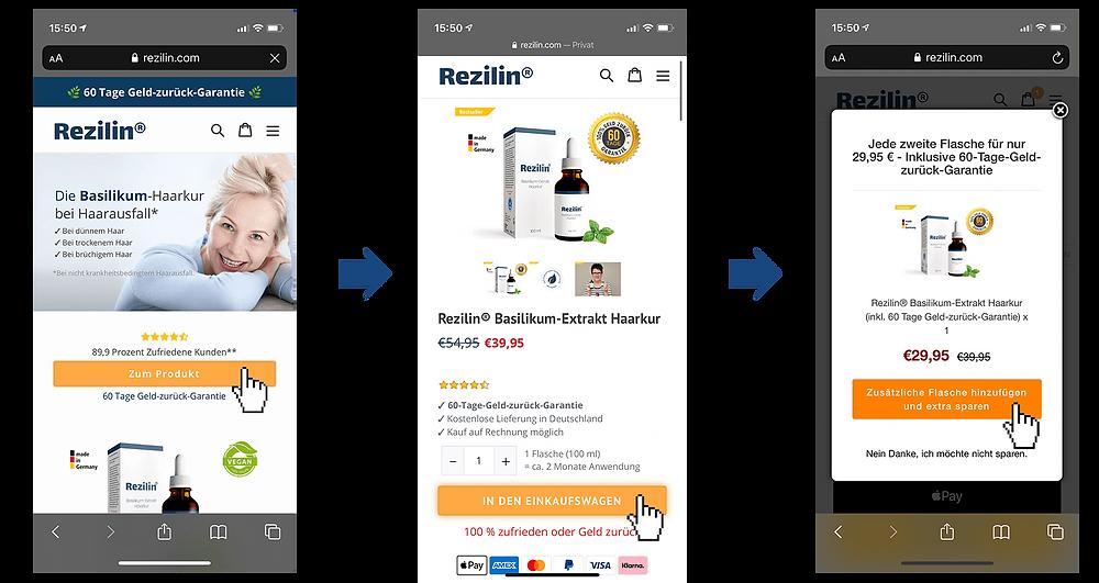 Schritt für Schritt Anleitung zum Kauf von Rezilin
