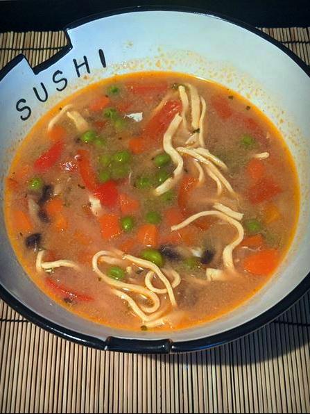 Soupe orientale à l'érable
