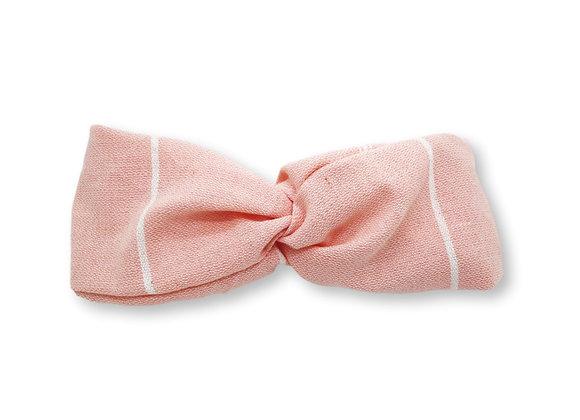 Headband fouta rayé rose