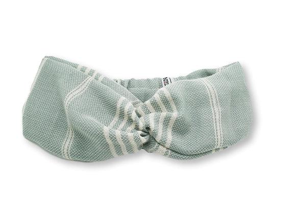 Headband fouta rayé vert olive