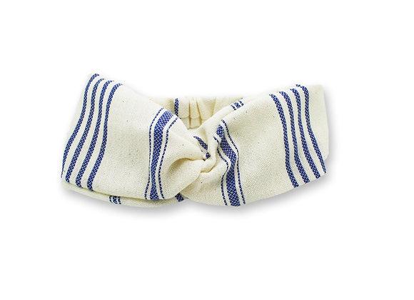 Headband fouta rayé bleu