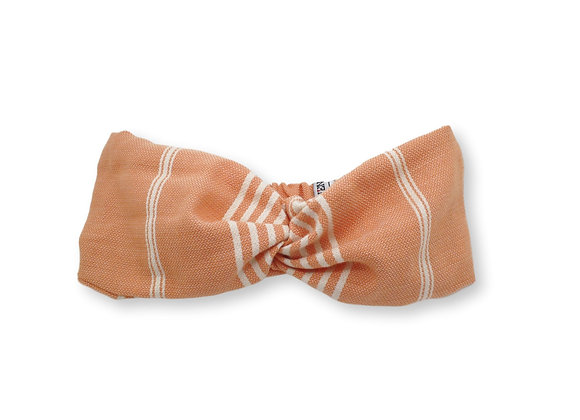 Headband fouta rayé orange