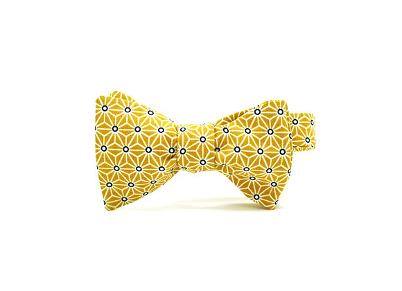 Noeud papillon Asanoha moutarde