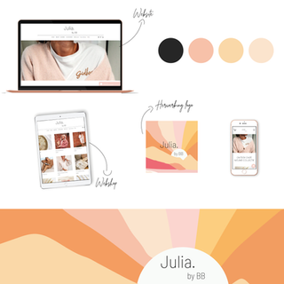 Presentatie huisstijl Julia by BB vierka