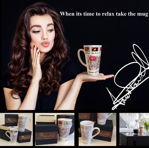 Designer Latte Mug