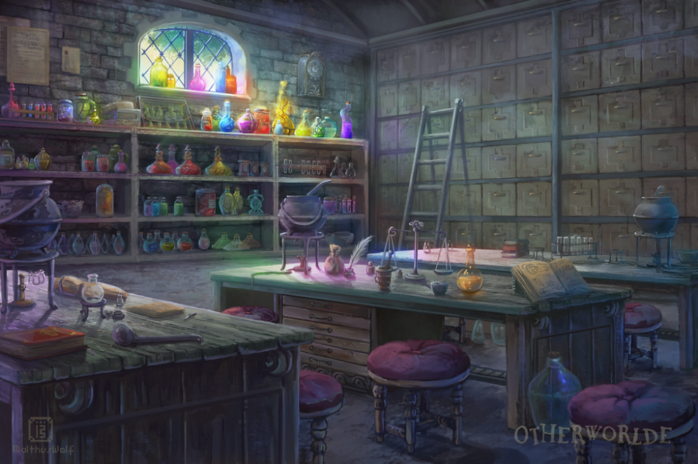 [C] Potions classroom by MalthusWolf on