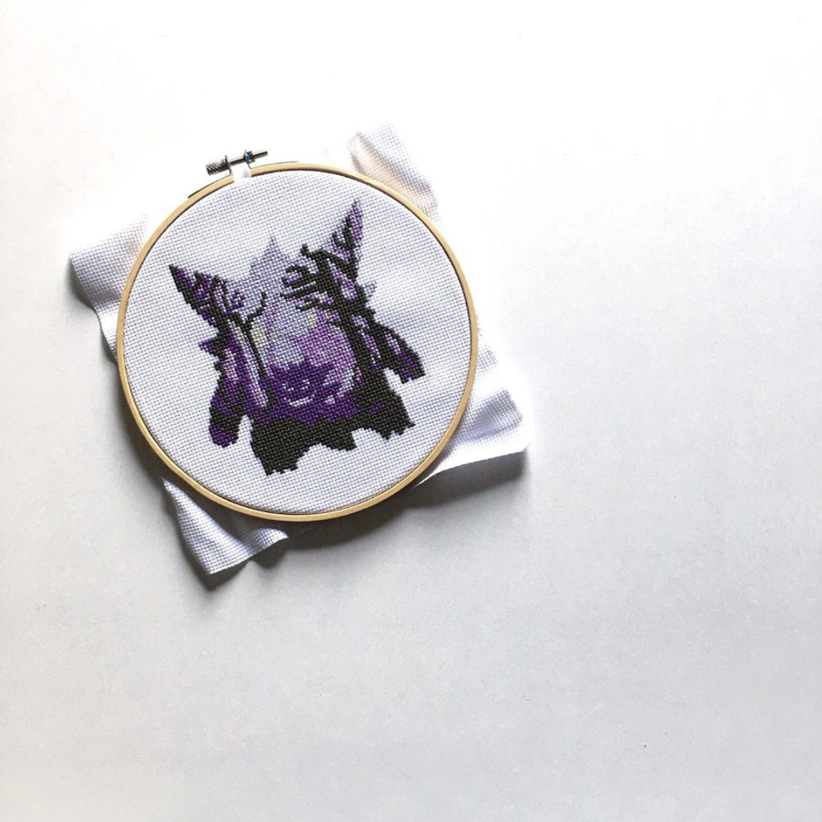 Gengar Cross Stitching