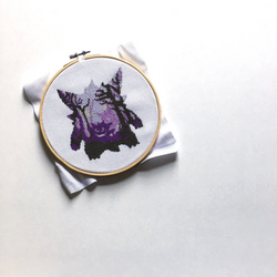 Gengar Cross Stitching