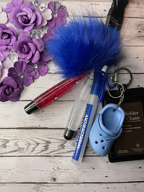 Drip Blue Neck Keychain