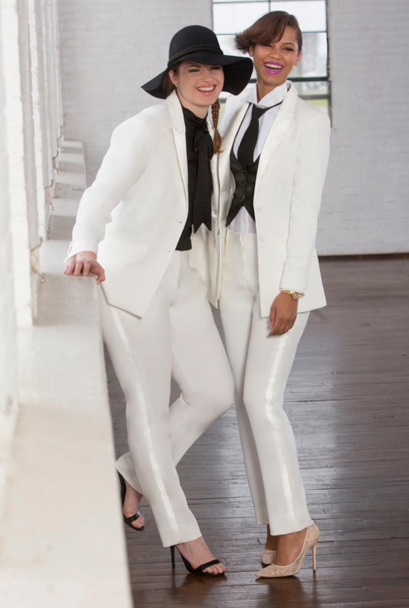 Little Black Tux Women's wedding suit