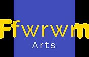 Ffwrwm Arts Logo Gold on Blue