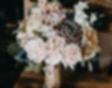 Eucalyptus and rose bouquet
