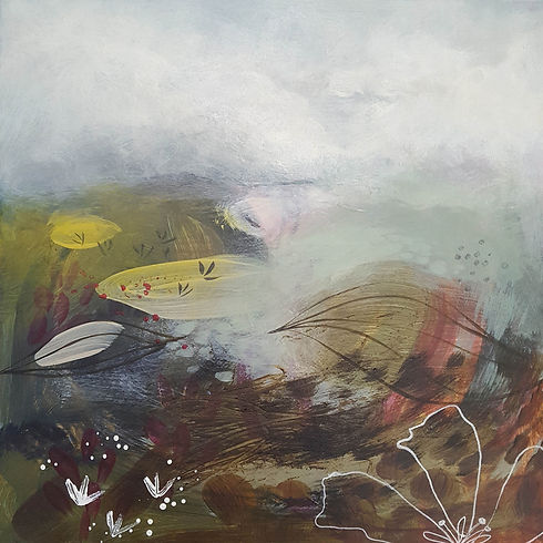 'Getting closer No2' a painting in acrylic on canvas by Louise Horton at Ffwrwm Arts