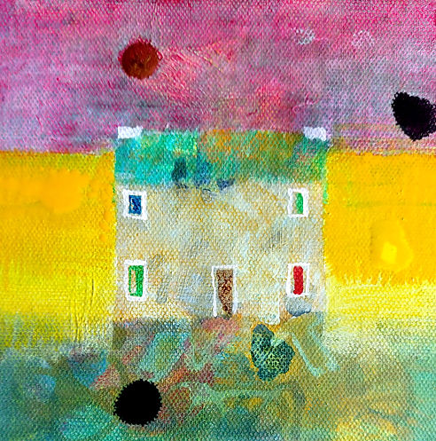 Welsh Home acrylic painting by Glenn Carney