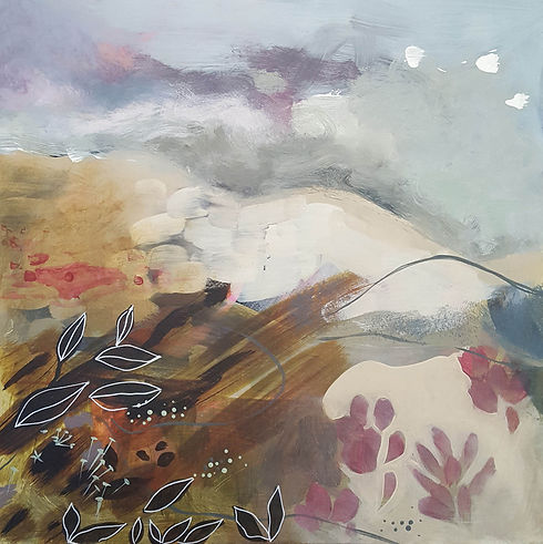 'Getting closer No1' a painting in acrylic on canvas by Louise Horton at Ffwrwm Arts