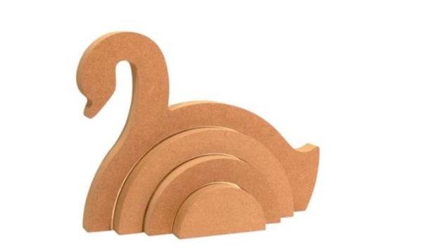 Personalised Rainbow swan