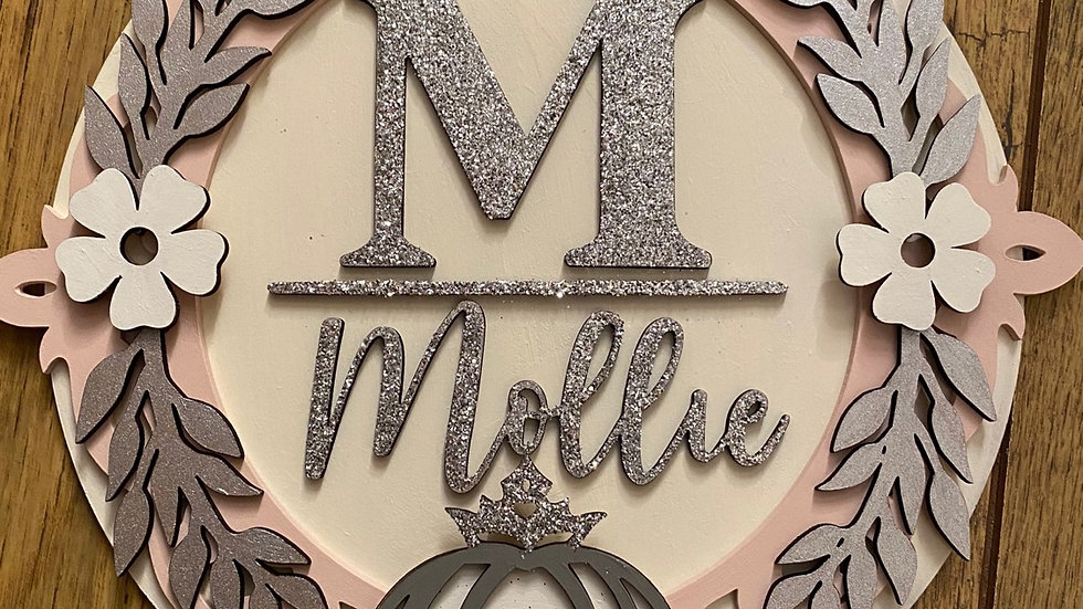Personalised princess name plaque