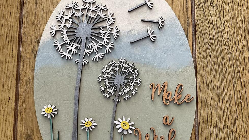 Dandelion plaque