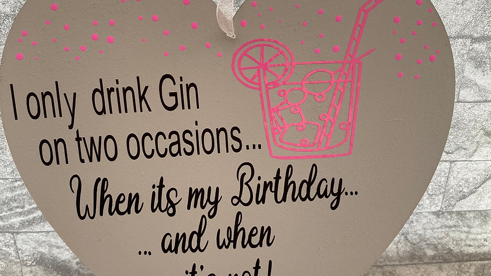 I only drink gin