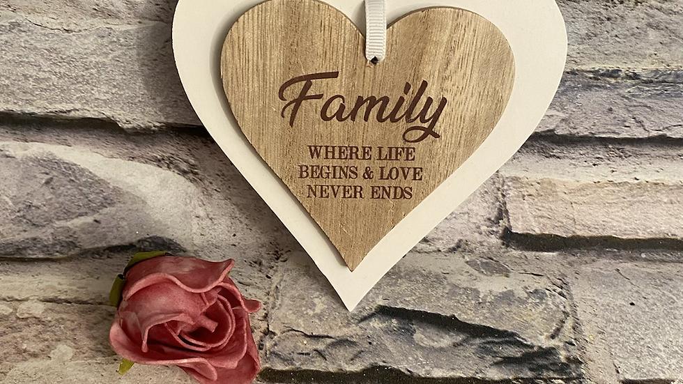 Family double heart