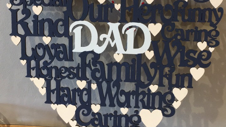 Dad/Daddy worded heart