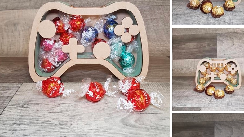 Chocolate fillable game controller