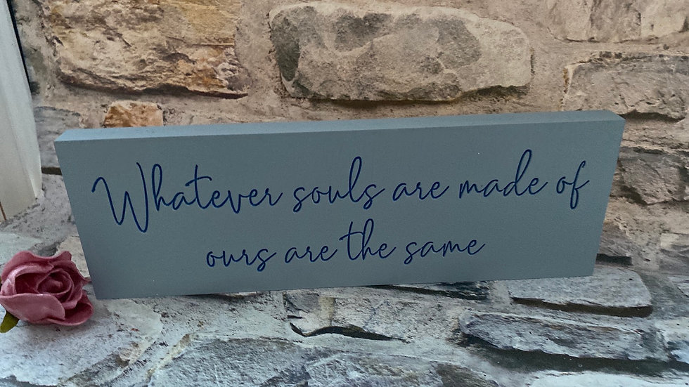 Whatever souls are made of