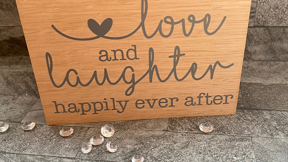 Love and laughter happily ever after