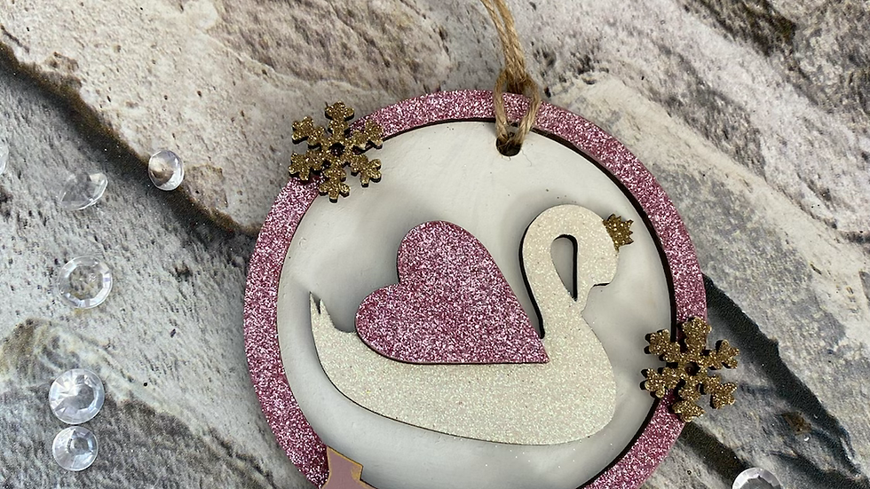 Personalised Swan bauble
