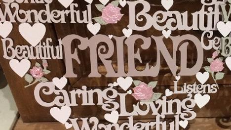 Friend worded heart