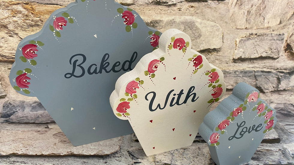 Baked with love cupcakes
