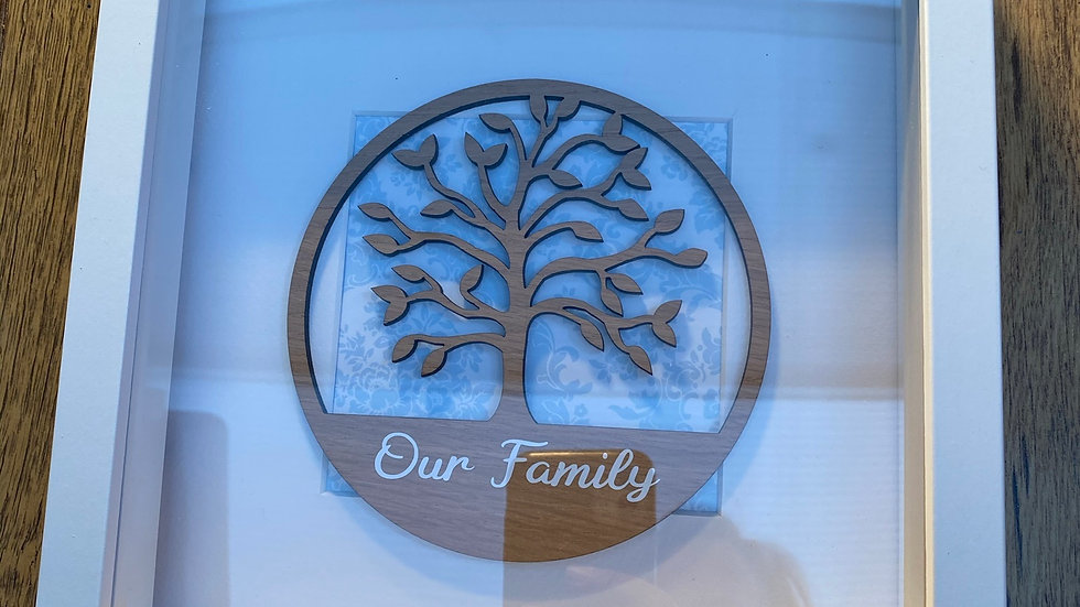 Our family tree box frame
