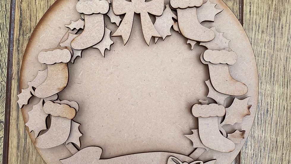 Christmas Stocking family wreath