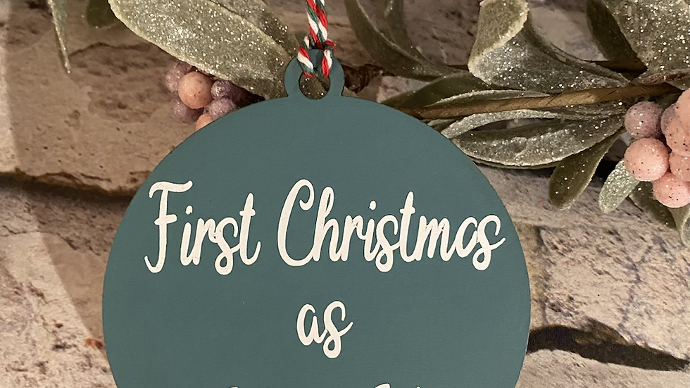 First Christmas as Mr & Mrs bauble