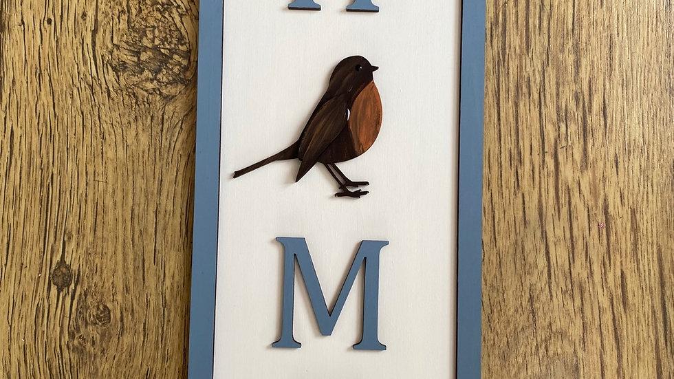 Robin home plaque