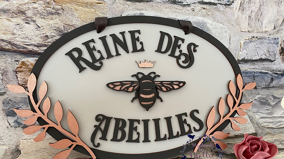 Queen bee 🐝 french plaque reine des abeilles
