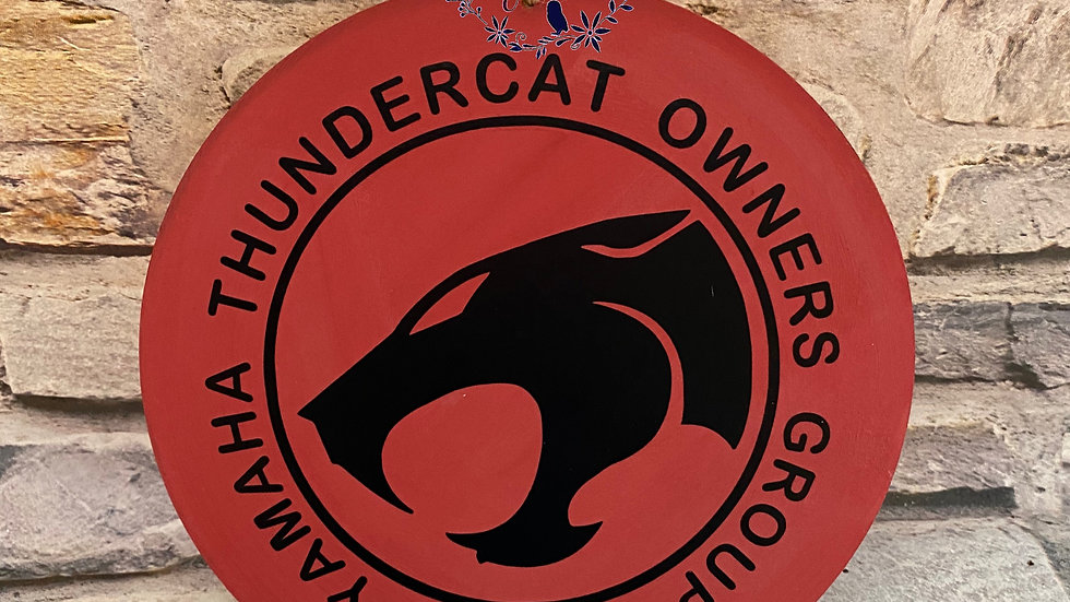 Yamaha Thundercat owners group plaque