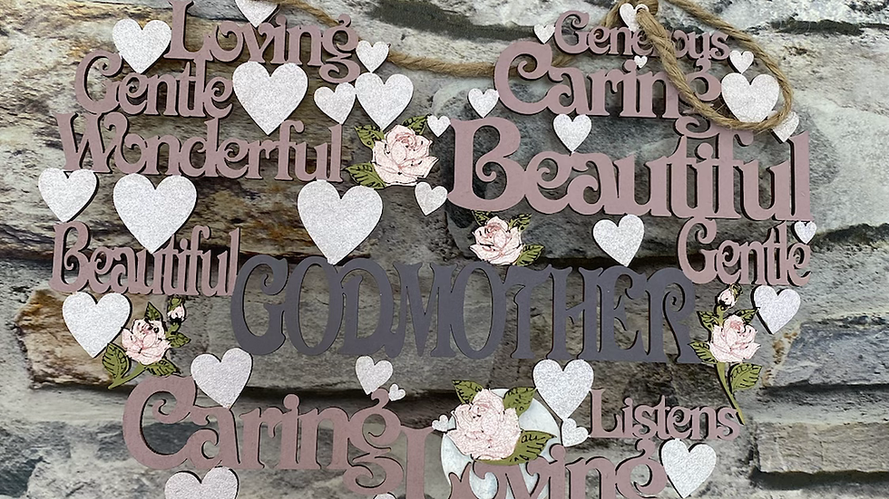 Godmother worded heart