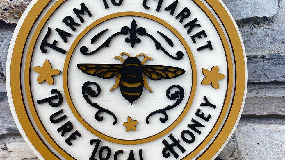 Farm to market  pure local honey - Bee