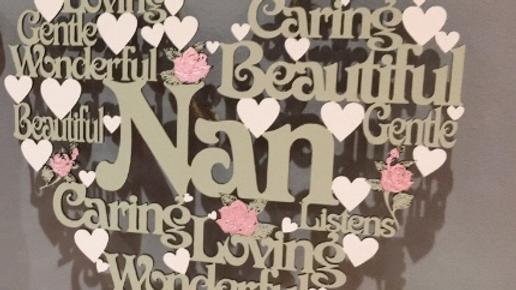 Nan worded heart