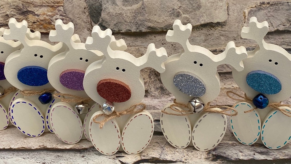 Personalised Reindeer freestanding