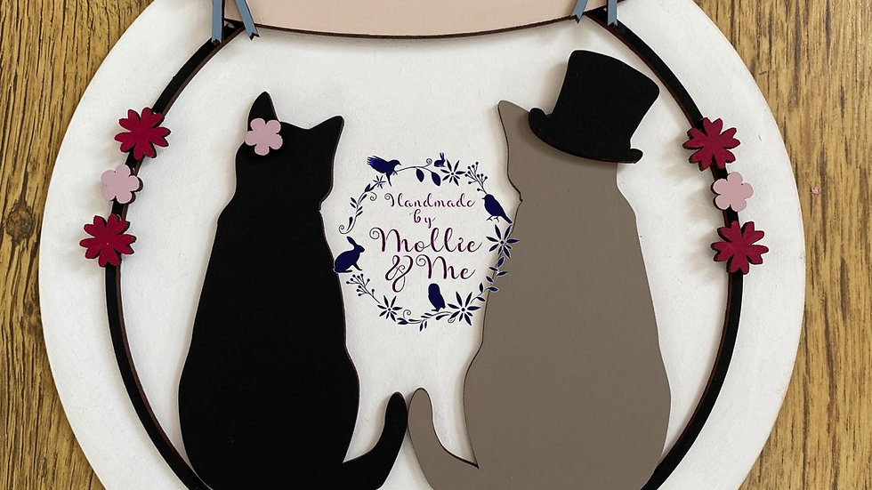 Wedding cats personalised