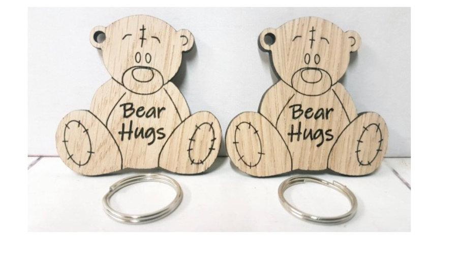 Bear hug keyrings