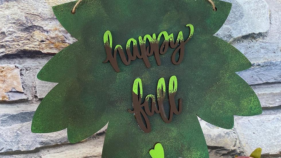 Happy fall leaf