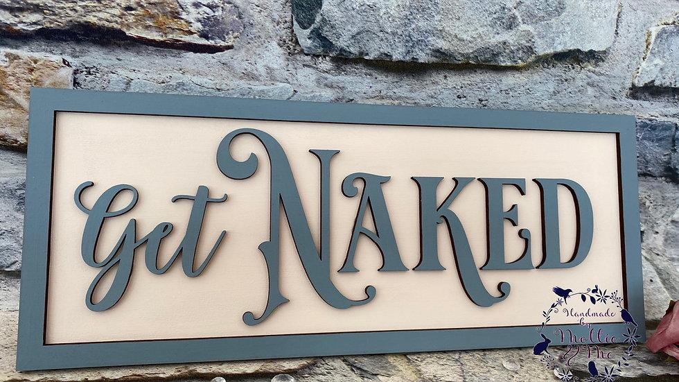 Get naked bathroom plaque