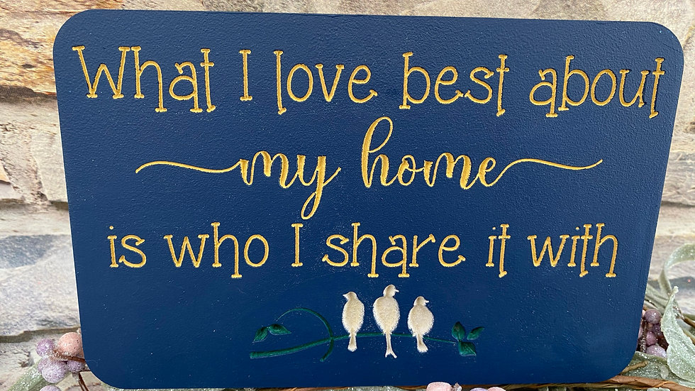 What I love best about my home is who I share it with