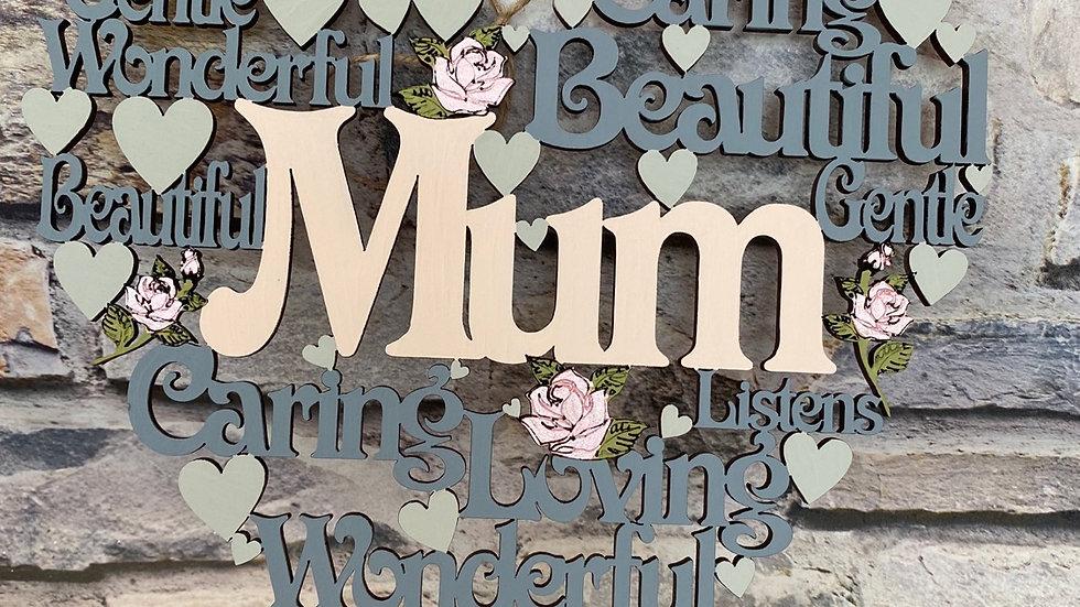 Mum worded heart
