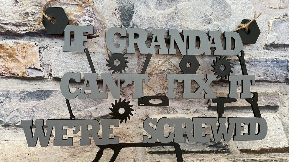If Grandad can't fix it we're screwed