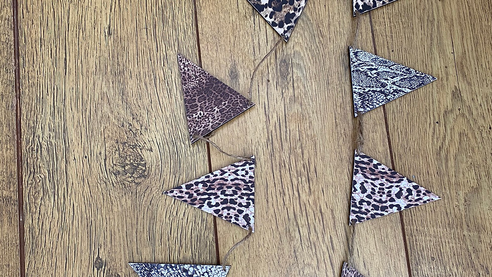 leopard print bunting