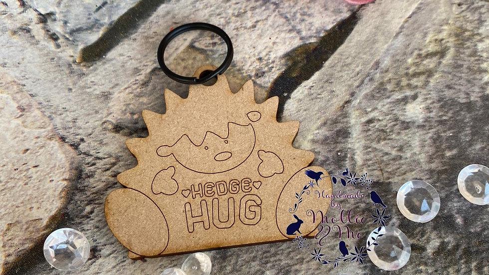 Hedge hug Mdf keyring